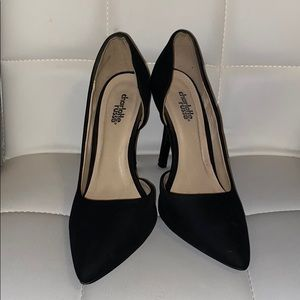 Charlotte Russe black pointy pumps